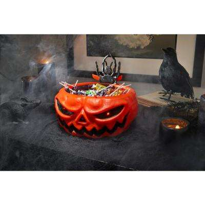 10.5 in Animated LED Pumpkin Trick-or-Treat Candy Bowl