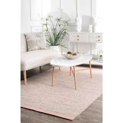 Emelia Contemporary Solid Pink 5 ft. x 8 ft.  Area Rug