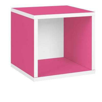 zBoard Eco 12.8 in. x 13.4 in. Stackable Storage Cube Organizer in Pink