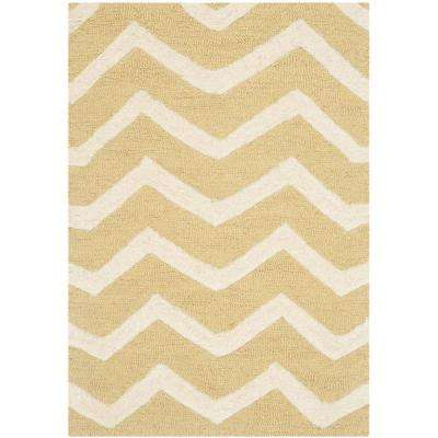 Cambridge Light Gold/Ivory 2 ft. x 3 ft. Area Rug