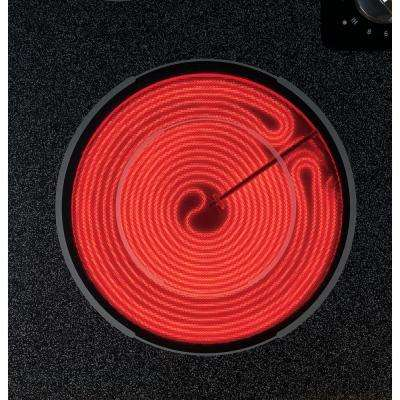 21 in. Glass Ceramic Electric Cooktop in Black with 2 Elements