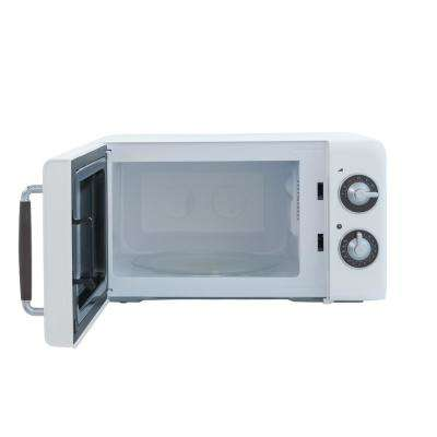 Retro 0.7 cu. ft. Countertop Microwave in White