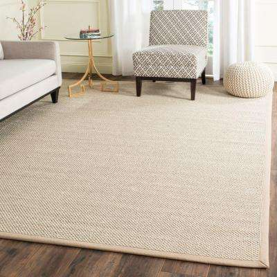 Natural Fiber Marble/Linen 8 ft. x 10 ft. Area Rug