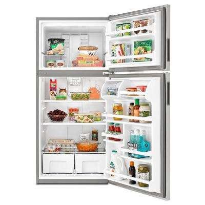 18.2 cu. ft. Top Freezer Refrigerator in Monochromatic Stainless Steel