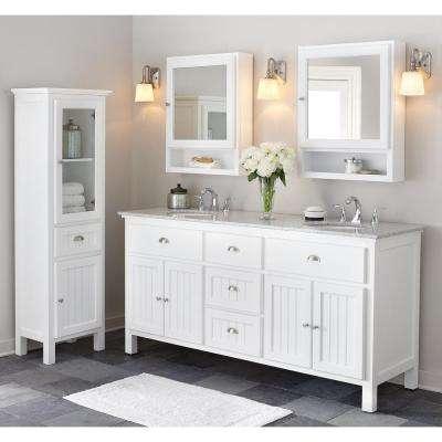 Ridgemore 28 in. W x 22 in. D Bath Vanity in Sea Glass with Granite Vanity Top in Grey