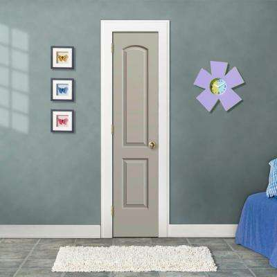 18 in. x 80 in. Continental Desert Sand Painted Right-Hand Smooth Molded Composite MDF Single Prehung Interior Door