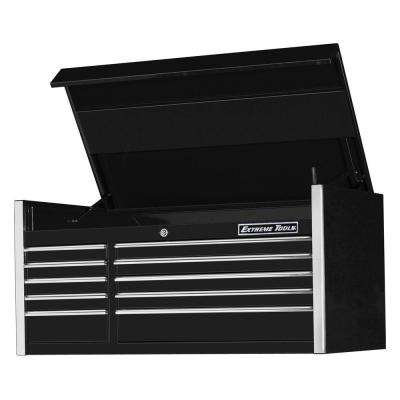 EX Professional Series 55 in. 10-Drawer Top Chest, Black