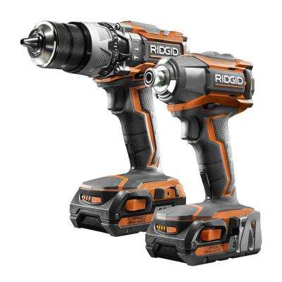 18-Volt Lithium-Ion Cordless Hammer Drill/Driver and Impact Driver Combo Kit