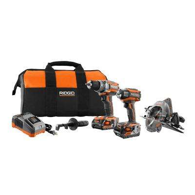 GEN5X 18-Volt Lithium-Ion Cordless Brushless Combo Kit with Bare Tool Option (3-Piece)