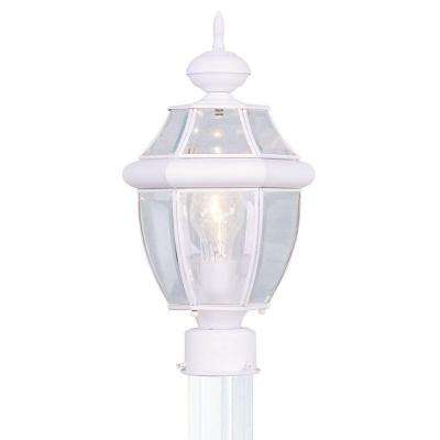 Providence 1-Light Outdoor White Incandescent Post Lantern