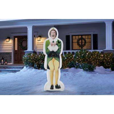6 ft. Pre-lit Inflatable Excited Buddy the Elf-Airblown-WB