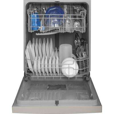 24 in. Front Control Built-In Tall Tub Dishwasher in Stainless Steel with Steam Prewash, 54 dBA