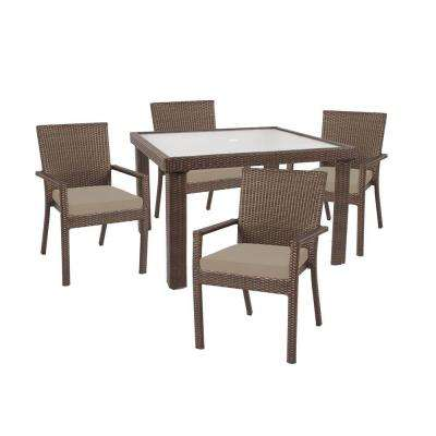 Beverly 5-Piece Patio Dining Set with Beverly Beige Cushion
