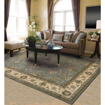 2000 Blue 6 ft. x 6 ft. Round Area Rug