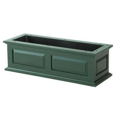 36 in. Hunter Green Savannah Wood Window Box