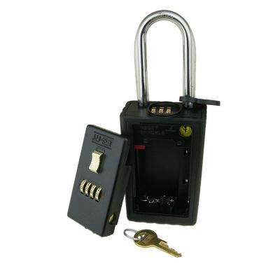 4-Number Combination Lockbox Key Storage Lock Box with Combination Locking Shackle