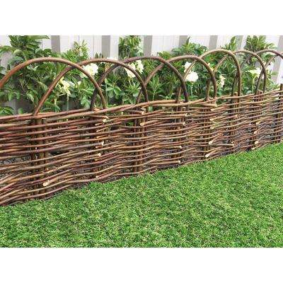 72 in. L x 16 in. W  X-Large Woven Willow Flexible Edging with Loops