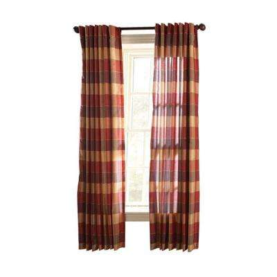 Faux Silk Plaid Curtain