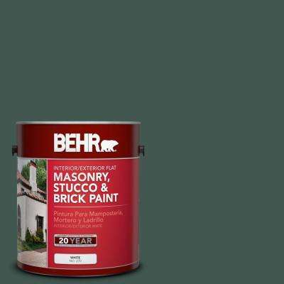 1 gal. #S420-7 Secluded Woods Flat Interior/Exterior Masonry, Stucco and Brick Paint