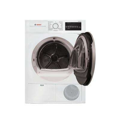500 Series24 in. 4 cu. ft. White with Silver Accents Electric Condensation Compact Dryer, ENERGY STAR