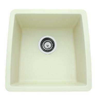 PERFORMA Undermount Composite 17 in. Single Bowl Bar Sink in Biscuit