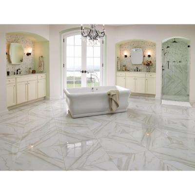 Calacatta Gold 18 in. x 18 in. Polished Marble Floor and Wall Tile (13.5 sq. ft. / case)