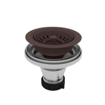 4-3/16 in. Brass Basket Strainer Assembly in Oil Rubbed Bronze
