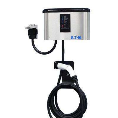 Level 2 30 Amp Wall Mounted Electric Vehicle Charger (Cord Connected)