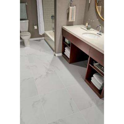 Carrara 24 in. x 24 in. Polished Porcelain Floor and Wall Tile (28 cases / 448 sq. ft. / pallet)