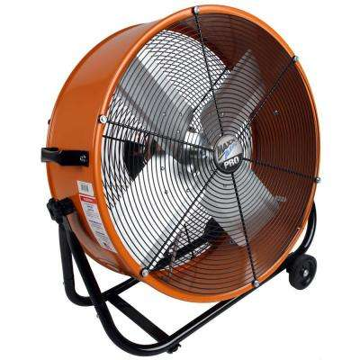 Pro 24 in. Industrial Heavy Duty, 2-Speed, Multi-Purpose PRO Tilt Drum Fan