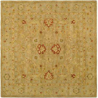 Antiquity Brown/Beige 4 ft. x 4 ft. Square Area Rug