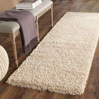 California Shag Beige 2 ft. x 11 ft. Runner Rug