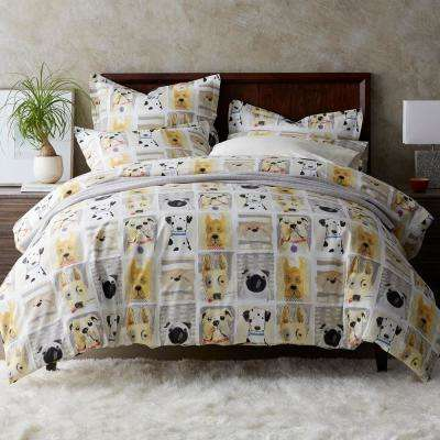 Puppy Love Cotton Percale Duvet Cover