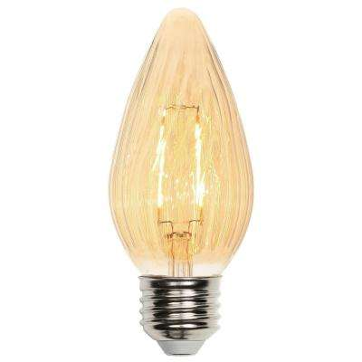 25W Equivalent Amber F15 Dimmable LED Light Bulb