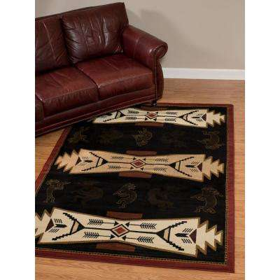 China Garden Tradewinds Black 7 ft. 10 in. x 10 ft. 6 in. Area Rug