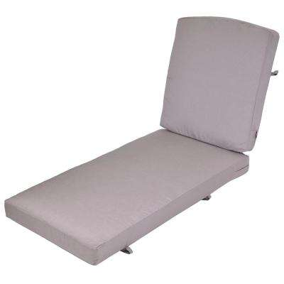 Oak Cliff Gray Replacement 2-Piece Outdoor Chaise Lounge Cushion