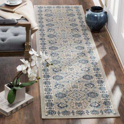 Patina Light Blue/Ivory 2 ft. 2 in. x 8 ft. Runner Rug