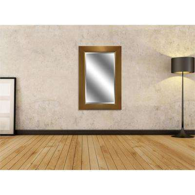 Reflection 24 in. x 36 in. Bevel Style Framed Gold Finish Mirror