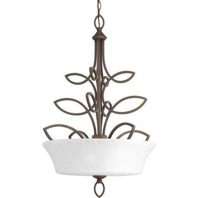 Monogram Collection 3-Light Roasted Java Chandelier
