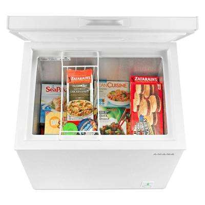 5.3 cu. ft. Compact Chest Freezer in White with 2-Rollers