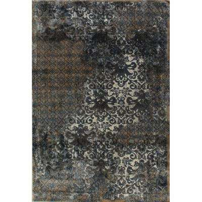 Royal Treasure Soft Blue/Mocha 9 ft. 2 in. x 12 ft. 10 in. Indoor Area Rug