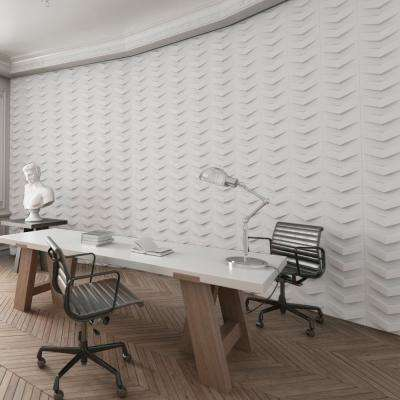 Chevron White Geometric Strippable Wallpaper