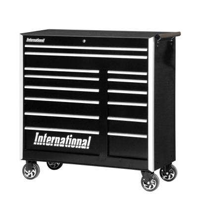 Pro Series 42 in. 14-Drawer Cabinet, Black