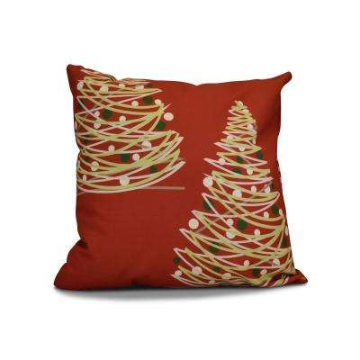 16 in. O Tannenbaum Red Pillow