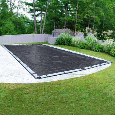 Economy Rectangular Blue Solid In Ground Winter Pool Cover