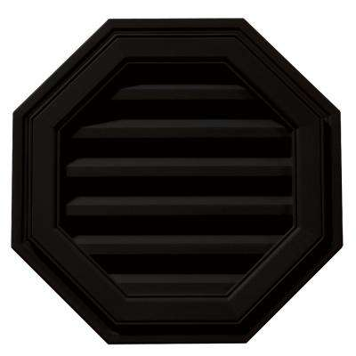 18 in. Octagon Gable Vent in Black
