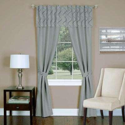 Sheer Trellis Window Curtain Set