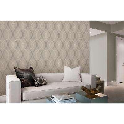 Echo Grey Lattice Wallpaper Sample
