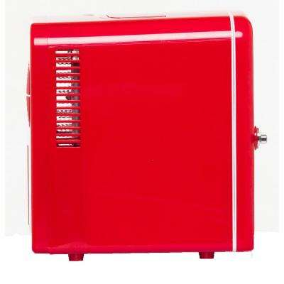 0.3 cu. ft. 6-Can Retro Mini Fridge in Red