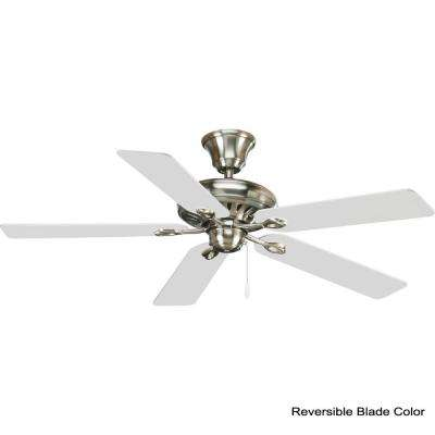 AirPro Signature 52 in. Indoor Brushed Nickel Modern Ceiling Fan